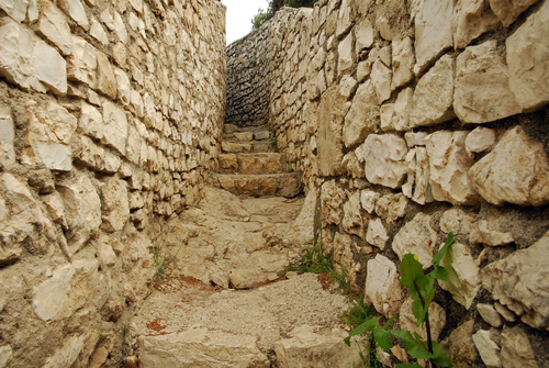 Stairs in Ammunition hill, Jerusalem